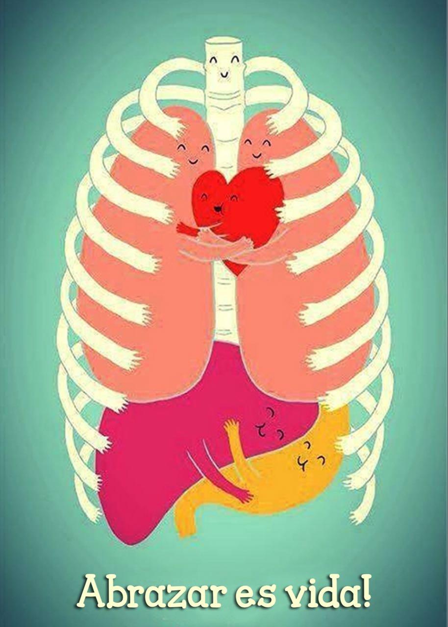 Abrazar es vida. Abrázate tu también!